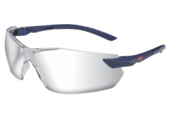 Brýle 3M 2820 ochranné nemlživé neškrábavé nastavitelné šedo/černé pružné straničky s gumovým koncem čiré