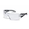 Brýle UVEX PHEOS Supravision Plus černo/šedé rámeček velkoplošný zorník nemlživé nepoškrábatelné čiré