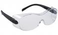 Ochranné brýle PW OVERSPEC dvouzorníkové přes dioptrické brýle černé straničky čiré