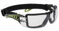Brýle PW Tech Look Plus moderní pěnové těsnění nastavitelná textilní guma čiré