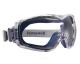 Ochranné uzavřené brýle Honeywell DURAMAXX měkká těsnící linie textilní guma šedo/modrý rámeček HC/AF čiré