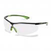 Brýle UVEX Nový SPORTSTYLE Supravision Excellence rámeček limetkovo/černý nemlživé proti poškrábání čiré