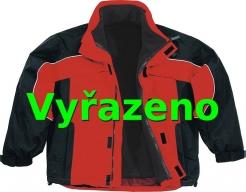Bunda ALBATROS zateplená sportovní střih červeno/černá velikost L