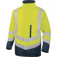 Reflexní vysoce viditelná bunda OPTIMUM 2 vyjímatelná vložka 4 v 1 HV žluto/modrá