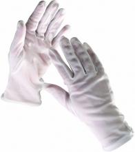 Rukavice CERVA KITE pětiprsté úplet BA/PES volná manžeta bílé