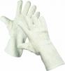 Rukavice CERVA LAPWING protiřezné tepluodolné uzlíková bavlna dlouhé bílé