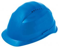 Ochranná přilba ROCKMAN C6 EXP zesílený vrchlík 12 ventilačních otvorů látkový kříž protažená v zátylku modrá