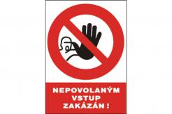 Tabulka Nepovolaným vstup zakázán