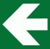 Tabulka Symbol směrová šipka bílá/zelená