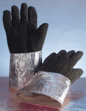 Rukavice prstové tepluodolné do 1000°C dlouhé