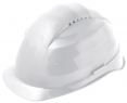 Ochranná přilba ROCKMAN C6R HDPE 12 ventilačních otvorů látkový kříž račna bílá