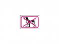 Samolepka Zákaz vstupu se psem symbol bez textu 150x105mm červeno/bílo/černá