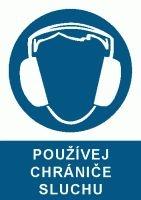 Tabulka Používej chrániče sluchu