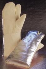 Rukavice tříprsté tepluodolné do 600°C dlouhé