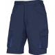 Montérkové kraťasy DELTA Bermuda MACH 2 PES/BA šikmé kapsy u pasu měchové kapsy na stehnech tmavě modré