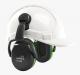 Mušlové chrániče sluchu Hellberg SECURE 1C na přilbu SNR 25 výškově nastavitelné černo/zelené
