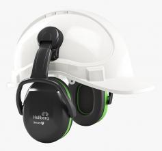 Mušlové chrániče sluchu Hellberg SECURE 1C na přilbu SNR27 výškově nastavitelné černo/zelené