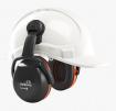 Mušlové chrániče sluchu SECURE 3C na přilbu SNR 32 výškově nastavitelné černo/oranžové