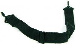 Podbradní pásek PROTECTOR bavlněný černý