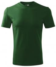 Tričko Malfini Heavy 200 bavlněné bezešvý střih trupu kulatý průkrčník tmavě zelená
