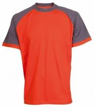 Tričko CXS OLIVER ORION bavlna 180 g krátký rukáv kulatý průkrčník oranžovo/šedé