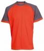 Tričko OLIVER ORION bavlna 180g oranžovo/šedé velikost XXXL