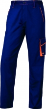 Montérkové kalhoty DELTA PLUS MACH 6 PANOSTYLE do pasu PES/bavlna rovný střih poutka na opasek modro/červené