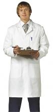 Pracovní plášť PW STANDARD PES/BA kapsy u pasu náprsní kapsa kryté zapínání na cvoky bílý