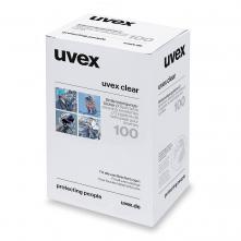 Čistící ubrousky na brýle UVEX vlhčené bez silikonu box 100 ks bílé