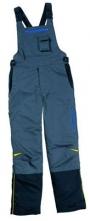 Montérkové kalhoty DELTA PLUS MICHELLIN s náprsenkou zesílená kolena šedo/černé