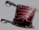 Nákoleník filc/hlazená kůže upínací řemínky