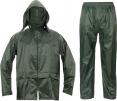 Oblek CARINA polyester potažený polyurethanem kapuce zelený velikost M