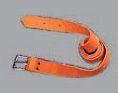 Opasek kožený pracovní kovová spona šíře 2,5 cm délka 120 cm