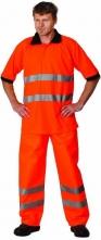 Polokošile AVALON piqué reflexní oranžová velikost XL