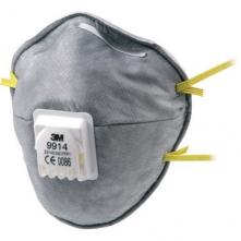 Respirátor 3M 9914 FFP1V speciální proti prachu, aerosolům a zápachu výdechový ventil šedý