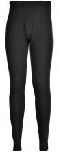 Spodky PW TERMO KLASIK BA/PES žebrovaný úplet pružný pas pružné konce nohavic poklopec černé