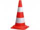 Kužel dopravní bílé pruhy výška 54 cm oranžový