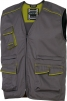 Montérková vesta DELTA PLUS MACH 6 lehká bez podšívky zapínání na zip množství kapes kontrastní obšívání šedo/zelená