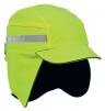 Čepice se skořepinou PROTECTOR FB3 WINTER zateplená zkrácený kšilt protažená do týla reflexní pruhy vysoce viditelná žlutá