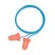 Tlumící zátky HOWARD LEIGHT MAX paměťová PU pěna jednotlivě balené v sáčku spojené vláknem fialové