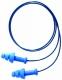 Tlumící zátky HOWARD LEIGHT SmartFit DT měkký plast detekční cvoček jednotlivě balené v sáčku spojené vláknem modré