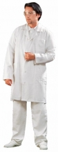 Plášť ADAM panský dlouhý rukáv bílý