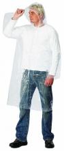 Pláštěnka s kapucí polyetylénová tenká průhledná