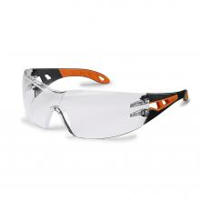 Brýle UVEX PHEOS Supravision Excellence černo/oranžový rámeček velkoplošný zorník nemlživé nepoškrábatelné čiré