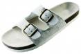 Obuv PUDU pantofle korková podrážka bílé