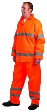 Bunda GORDON PES/PU nepromokavá reflexní pruhy oranžová velikost XL