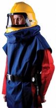 Kukla tryskací SCORPION lichoběžníkový průzor modrá vesta z Cordury žlutá