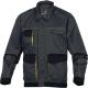 Montérková blůza DELTA D-MACH PES/bavlna košilový límeček boční otevřené kapsy šedo/žlutá
