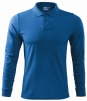 Polokošile Single Jersey 180 dlouhý rukáv azurové modrá velikost M