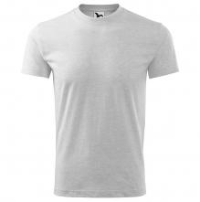 Tričko Heavy 200 bavlna kvalitní bavlněný materiál kulatý průkrčník melírované světle šedé